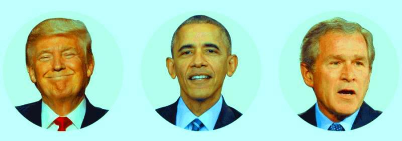 دنیا از نگاه داده، الگو، محبوبیت، بوش، ترامپ، اوباما، آمریکا، اروپا